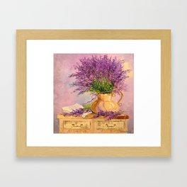 A bouquet of lavender Framed Art Print
