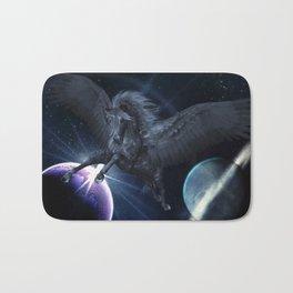 Black Pegasus Bath Mat