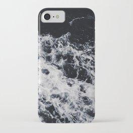 OCEAN - WAVES - SEA - ROCKS - DARK - WATER iPhone Case