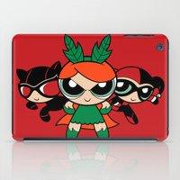 powerpuff girls iPad Cases featuring Supervillain Girls by Mandrie