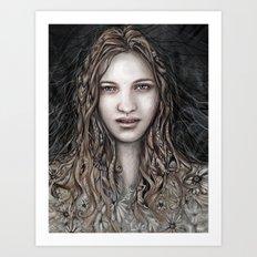 Lina the Dreamer Art Print