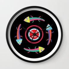 Circles of Gators Wall Clock