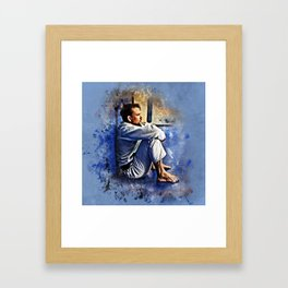 Flanery BJJ - Grunge Design Framed Art Print