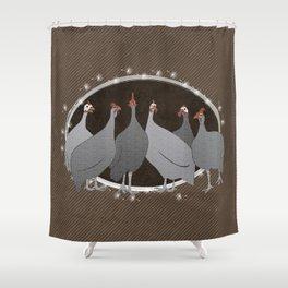 Helmeted Guineafowl Shower Curtain