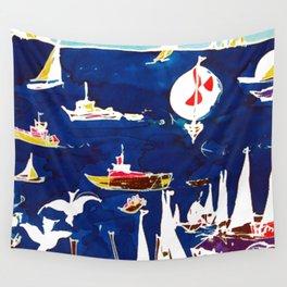 Southport Marina, AUSTRALIA                by Kay Lipton Wall Tapestry