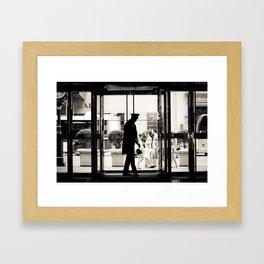 New York: Silhouette in Trump Tower Framed Art Print