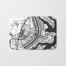 Brasilia Map Gray Bath Mat