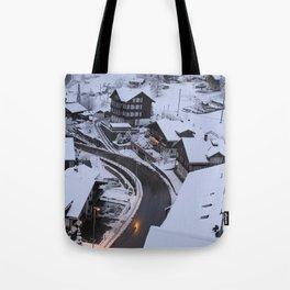 Wintery Grindelwald Tote Bag