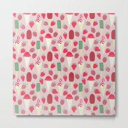 Berries&Cream Metal Print