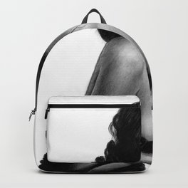Adriana Lima Portrait Pencil Drawing Backpack