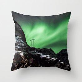 Aurora in Lofoten, Norway (II) Throw Pillow