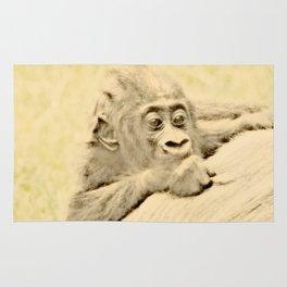 Vintage Animals - Gorilla Baby Rug