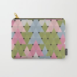 Colorful Abstract Random Triangles Texture Carry-All Pouch