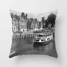 King's Staith beside the river Ouse Throw Pillow