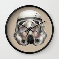 stormtrooper Wall Clocks featuring Stormtrooper by beart24