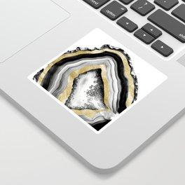 Agate Gold Foil Glam #1 #gem #decor #art #society6 Sticker