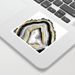 Agate Gold Foil Glam #1 #gem #decor #art #society6 Sticker