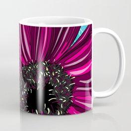 Pink Gerbera on Blue Sorbet Coffee Mug