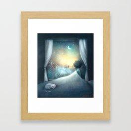 Not Sleepy Framed Art Print