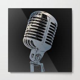 Vintage Microphone Pop Art Metal Print