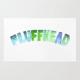 Fluffhead Watercolor Text Rug