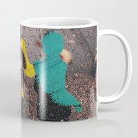 butterfly Mugs featuring Butterfly by Lerson