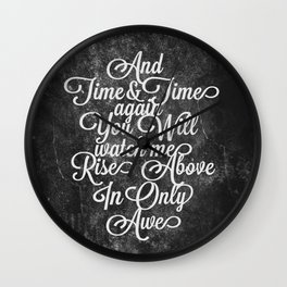 Rise Above (White) Wall Clock