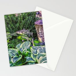 Greens and Yellows Garden Stationery Cards