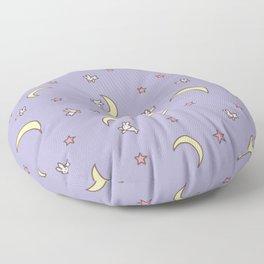 Purple Moon Anime  Floor Pillow