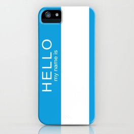 HELLO iPhone Case