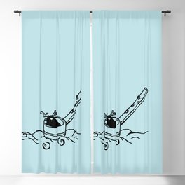 I am dipper - Aqua Blackout Curtain