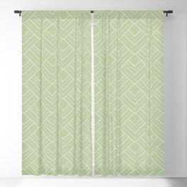Elegant Green Mid Century Modern Geometry Pattern Blackout Curtain