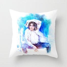The Pop King Throw Pillow