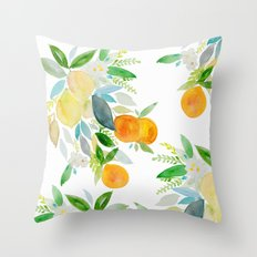 Citrus bouquet Throw Pillow