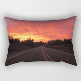 Highway to Fire Sunrise Rectangular Pillow