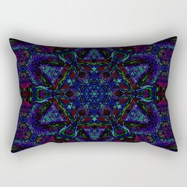 Near Black Daylily (under metaphorical blacklight) Rectangular Pillow
