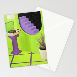 Home on the moon Stationery Cards