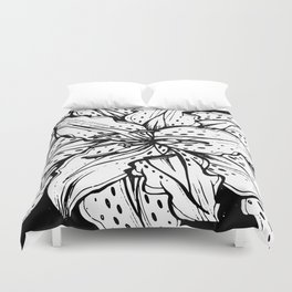 mandala full page #078 Lily Duvet Cover