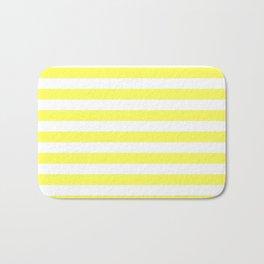 Stripes (Yellow & White Pattern) Bath Mat