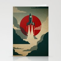 wall clock Stationery Cards featuring The Voyage by Danny Haas