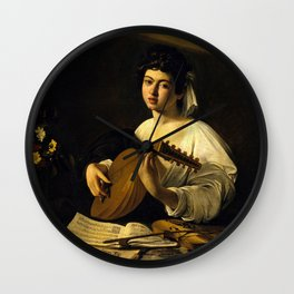 "Michelangelo Merisi da Caravaggio ""The Lute Player"" Wall Clock"