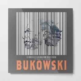 Bukowski (Barcode)- It Began as a Mistake Metal Print