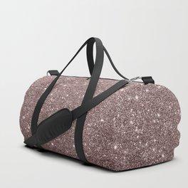 Modern mauve burgundy rose gold glitter Duffle Bag