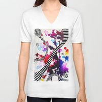 splash V-neck T-shirts featuring Splash by DuckyB