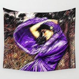 Boreas 1903 portrait #3 by John William Waterhouse in purple decor Wall Tapestry