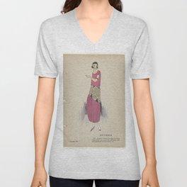 Always Chic Dresses, Winter 1921-1922Youth, GP. Joumard, 1921 - 1922 Unisex V-Neck