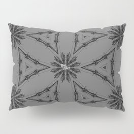Circular star made of hands or bones. Vintage gothic pattern. Pillow Sham