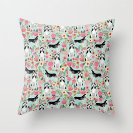 Husky dog breed must have gifts for dog person husky owner presents Throw Pillow