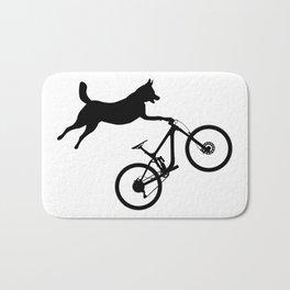 funny MTB mountain bike cycling dog lover gift Bath Mat