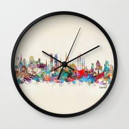 Istanbul skyline Wall Clock
